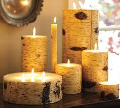Pottery Barn Pillar Candles Painted Birch Candles Pottery Barn