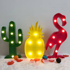 Outdoor Pineapple Lights Led Night Light Christmas Xmas Decor Flamingo Cactus Pineapple