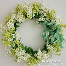 2017 artificial silk flower door wreath wedding garland decorative