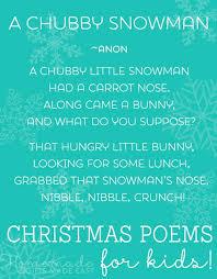 christmas poems for kids