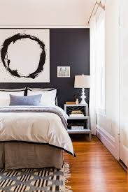 painting a feature wall ideas bedroom transitional with