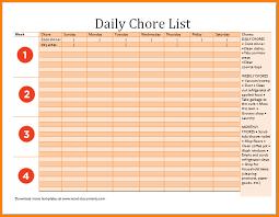 8 chore list template cashier resume