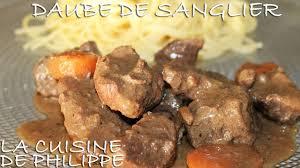 sanglier cuisine daube de sanglier