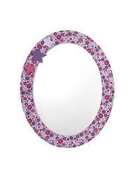 miroir chambre fille miroir rond fille thème princesse imprime vertbaudet enfant
