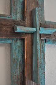 rustic crosses rustic unique turquoise cross one of a by heartifactsgallery