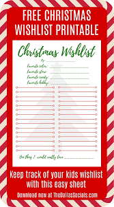 wishlist template printable survey