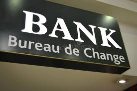 bank sign bureau de change stock image image of credit