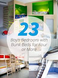 More Bunk Beds Bunk Beds For Four Or More In 23 Boy S Bedroom Home Design Lover