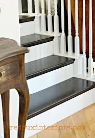 How To Paint A Table How To Paint A Staircase Black And White With All The Details
