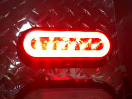 led lights for trucks and trailers 6 led 6 oval truck trailer s t t red w clear lens and backup