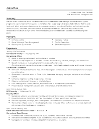 Sample Resume For It Professionals by Back To Free Correctional Officer Cover Letter Examples