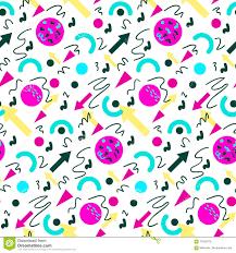 seamless geometric vintage pattern in retro 80s style memphis