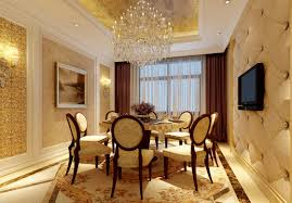 Dining Room With Chandelier Gold Dining Room Chandelier And Tv Picture 3d House