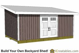How To Build A Lean To Shed Plans by 14x20 Shed Plans Build A Large Storage Shed Diy Shed Designs