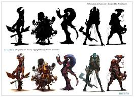 silhouette design character and creature design notes the use of silhouettes in