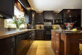 Black Cabinet Kitchen The Charm In Dark Kitchen Cabinets