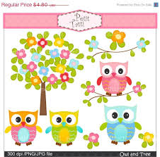 on sale clip owl flower tree clipart digital clipart small