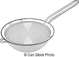 passoire de cuisine ustensile passoire crible cuisine poignée utensil vecteurs