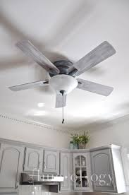 weathered gray ceiling fan with light before and after an outdated ceiling fan painted an updated with