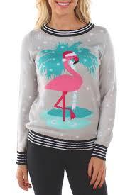 s flamingo palm tree sweater tipsy elves