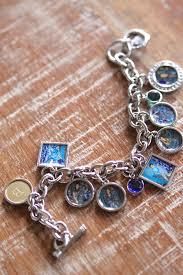 monogram charm personalized photo charm bracelet with birth stones and a monogram