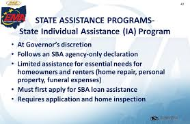 funeral assistance programs 1 introduction to emergency management in ohio unit 8 recovery