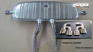 Porsche Cayenne Exhaust - sw exhaust stainless steel muffler for porsche cayenne s type 955