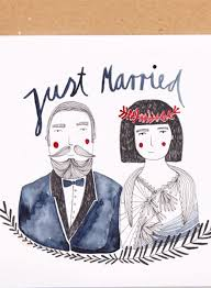 Just Married Cards Folding Card