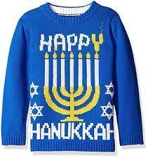 happy hanukkah sweater boys hanukkah sweater of david 10 12 m blue christmas m