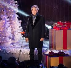 andrea bocelli performs photos rockefeller center christmas