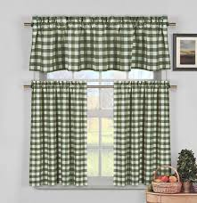 Yellow Gingham Valances by Amazon Com 3 Piece Plaid Checkered Gingham 35 Cotton Kitchen