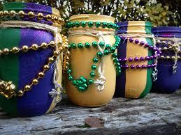 mardi gras decor painted mason jars mason jars decorated fat