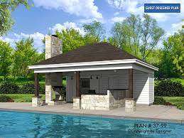 pool house plans free pool house plan 37 99 plans by garrell associates inc front elev