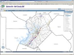 Georgia Map With Cities County Service Maps Hall County Ga Official Website