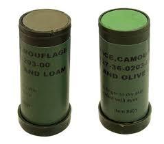 us military nato woodland camo hunting light green loam face paint