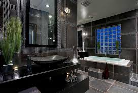master bathroom tile designs with black color home interior