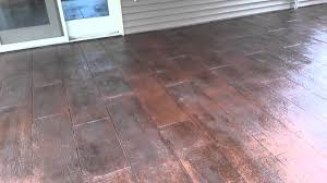 Wood Grain Stamped Concrete by Wood Plank Stamp Pattern Youtube
