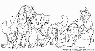 coloring page of wolf image anime wolf pack coloring pages 224807 png animal jam