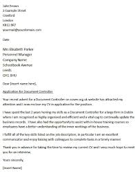 best document control cover letter 74 for your best cover letter