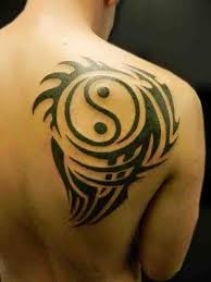 tribal upper back cool yin yang tattoo for men golfian com