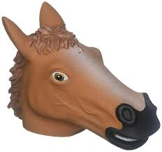 horse mask halloween city amazon com accoutrements horse head squirrel feeder toys u0026 games