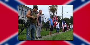 Flags Houston White Supremacists Stage Armed Protest Outside Naacp Headquarters