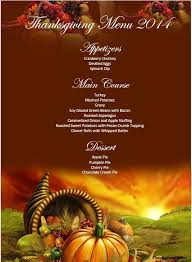 5 free thanksgiving menu templates stationery templates