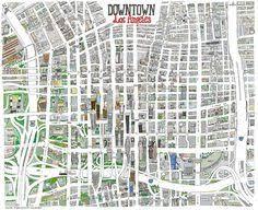 map of downtown los angeles downtown la map los angeles metropolitan area