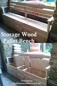 Build Storage Bench Plans by The Homestead Survival How To Build An Outdoor Storage Bench
