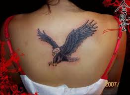 feminine eagle tattoos eagle tattoo designs eagle back tattoos