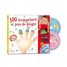 siege auto comptine livre cd 100 comptines et jeux de doigts pour enfant de 1 an à 4