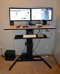Desk Measurements by Ergotron Workfit D Sit Stand Desk Birch Surface Decorative Desk