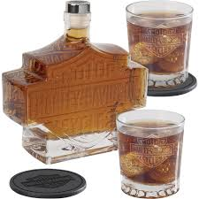 Harley Davidson Patio Lights by 5 Pc Harley Davidson Bar U0026 Shield Whiskey Decanter Set Www