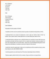 5 email for notice period of resignation cashier resumesnotice